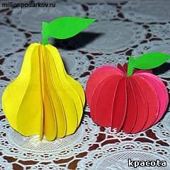 Своими руками из бумаги фрукты