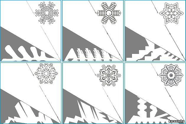 Как сделать бумагу для вырезания снежинок
