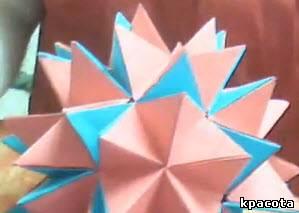 Уроки-видео Платье Оригами шар-трансформер