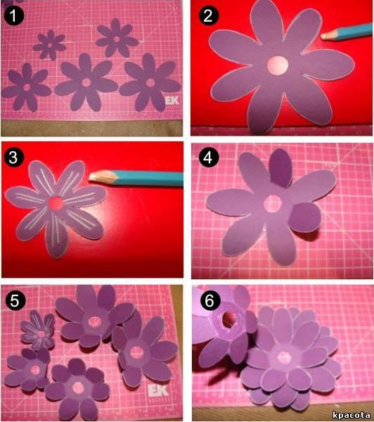 Цветы из бумаги своими руками мастер классы