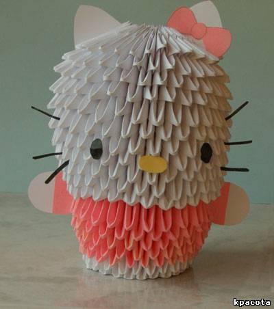 Модульное оригами китти схема фото 689