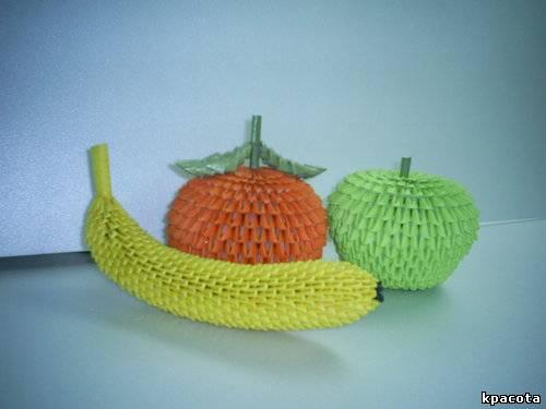 Оригами овощи и фрукты видео